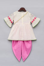 Load image into Gallery viewer, Girls Offwhite Embroidery Kurti With Dhoti in USA