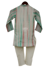 Load image into Gallery viewer, Boys Offwhite Tie & Die Kurta Set