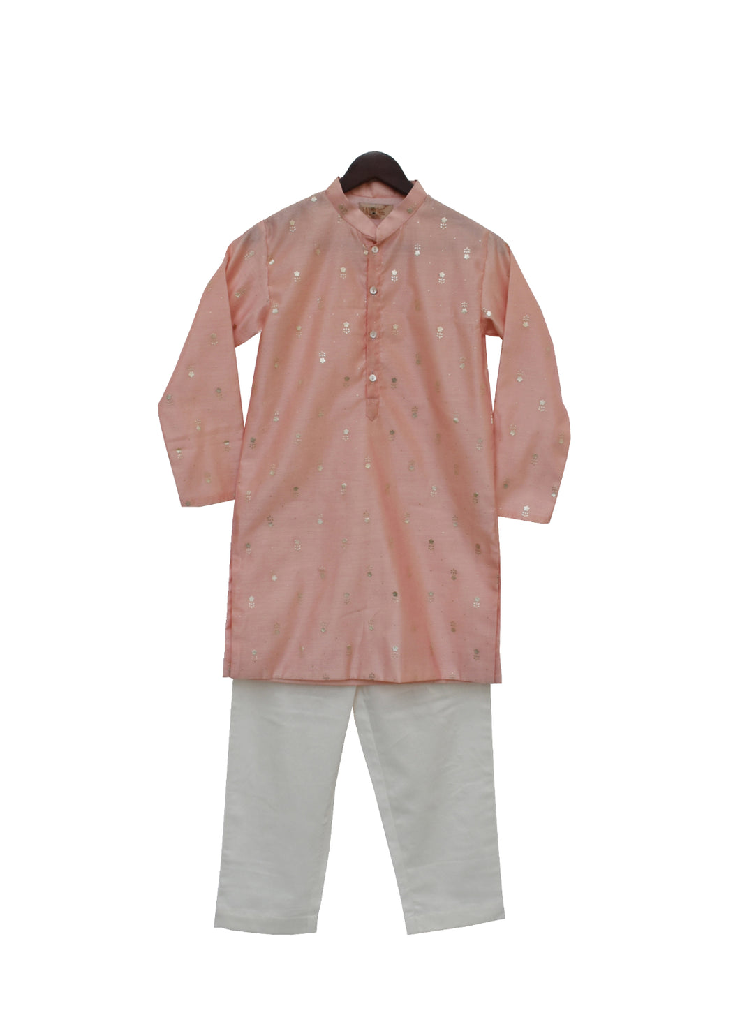 BOYS Peach Chanderi Kurta With Pant