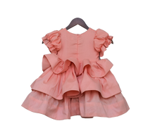 Load image into Gallery viewer, Girls Peach Sequence And Tassel Frock