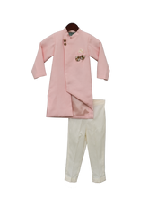 Load image into Gallery viewer, Boys Peach Linen Ajkan With Pant
