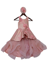 Load image into Gallery viewer, Girls Peachi Pink Flaier Gown