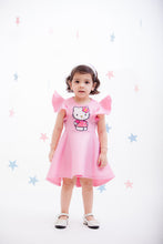 Load image into Gallery viewer, Girls Pink Lycra Hello Kitty Dress