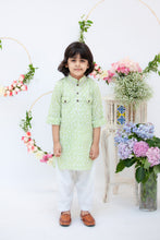 Load image into Gallery viewer, Boys Polka Print Pathani Kurta Salwar