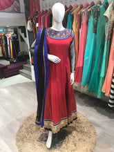Load image into Gallery viewer, Red Traditional Anarkali Suit online in USA
