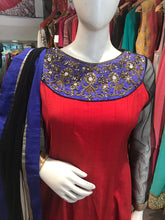 Load image into Gallery viewer, Red Traditional Anarkali Suit