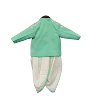Load image into Gallery viewer, Boys Sea Green Ajkan With Dhoti