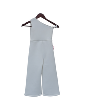 Load image into Gallery viewer, Girls White Lycra Jumpsuit