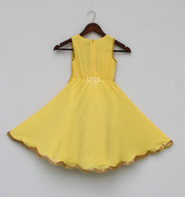 Load image into Gallery viewer, Perfect Panache Girls Yellow Anarkali Dress With Jacket