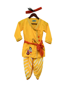 Boys Yellow Krishna Dhoti Set