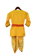 Load image into Gallery viewer, Boys Yellow Krishna Dhoti Set