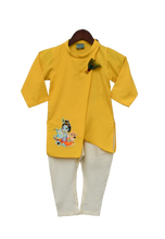 Load image into Gallery viewer, Boys Yellow Kurta With Offwhite Churidar