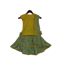 Load image into Gallery viewer, Girls Yellow Kurti With Green Printed Sharara