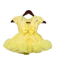 Load image into Gallery viewer, Girls Yellow Organza Frock