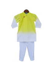 Load image into Gallery viewer, Boys Yellow & White Kurta With Pant