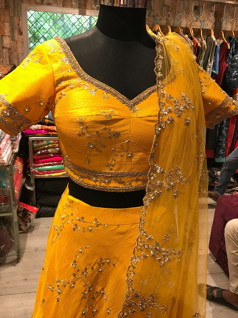 Zardozi And Pearl Work Lehanga by Perfect Panache Online in USA