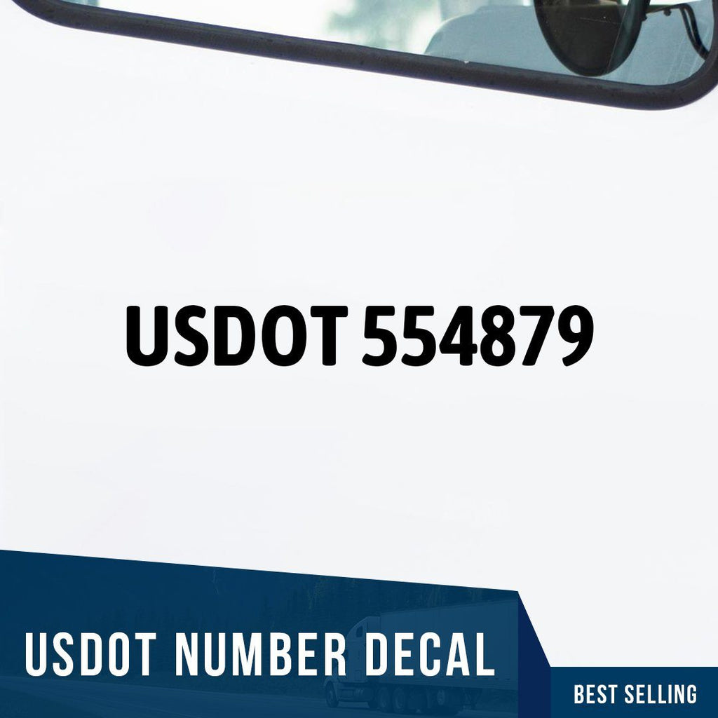 Usdot Number Decal Set Of 2 Usdotstore
