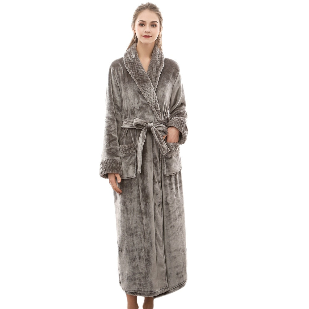 Women's Flannel Bathrobe