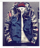 Grandwish Floral Bomber Jacket Men