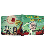 Rick And Morty Wallet With Coin Pocket