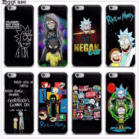 Rick And Morty Phone Case For iPhone X 6 6S 7 7Plus 8 Plus 5 5S SE black Soft silicone Protective Cover