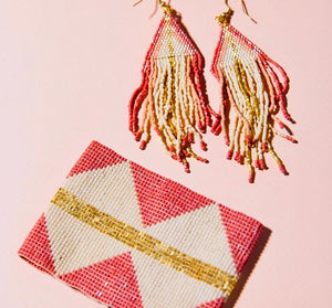 Metallic Coral Earring
