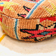 Load image into Gallery viewer, Vintage Moroccan Floor Cushion Round