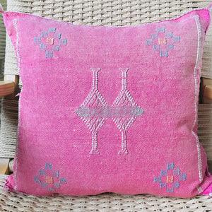 Cactus Silk Pillow Pink