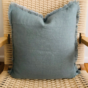 Linen Eyelash Sky + Mist Pillow
