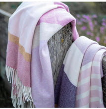 Load image into Gallery viewer, Lambswool Throw Blush + Coral