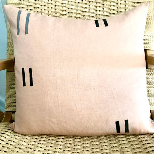 "Blush Linen Pillow 20""x20"""