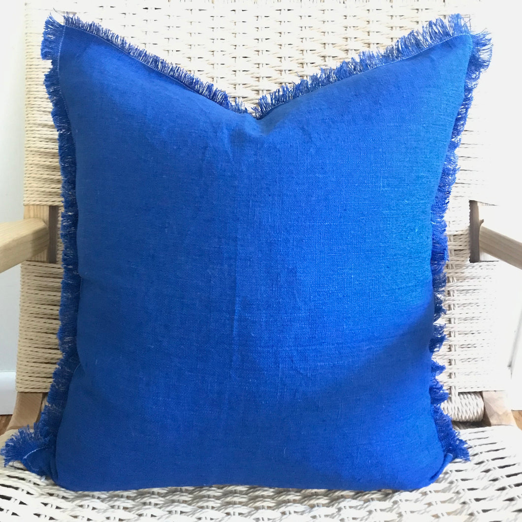 Linen Eyelash Marine Pillow