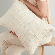 Load image into Gallery viewer, Ivory Chindi Lumbar Pillow