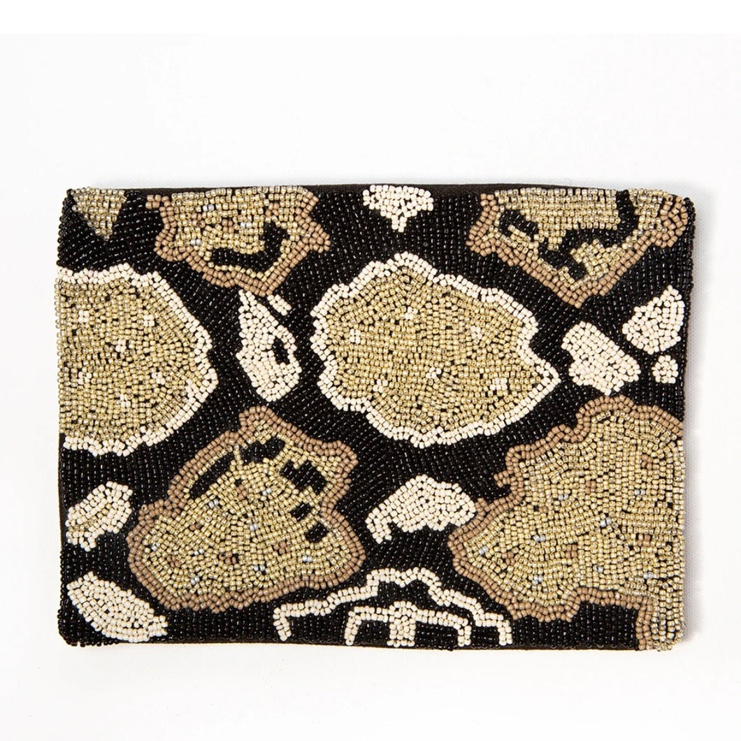Python Beaded Clutch