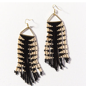 Black + Ivory Earring