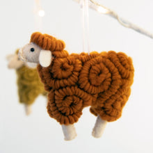 Load image into Gallery viewer, Wooly Sheep Ornament Butterscotch