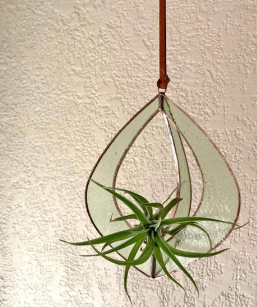 Glass Hanging Planter Wide