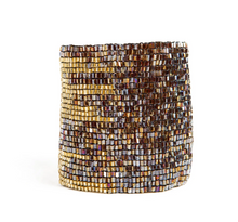 Load image into Gallery viewer, Metallic Brown  + Gold Cuff
