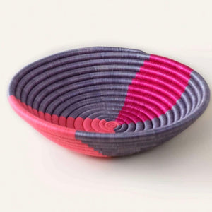 Fuchsia & Periwinkle Twist Abstract Plateau Bowl