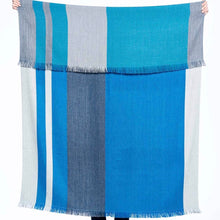 Load image into Gallery viewer, Alpaca Throw Cobalt