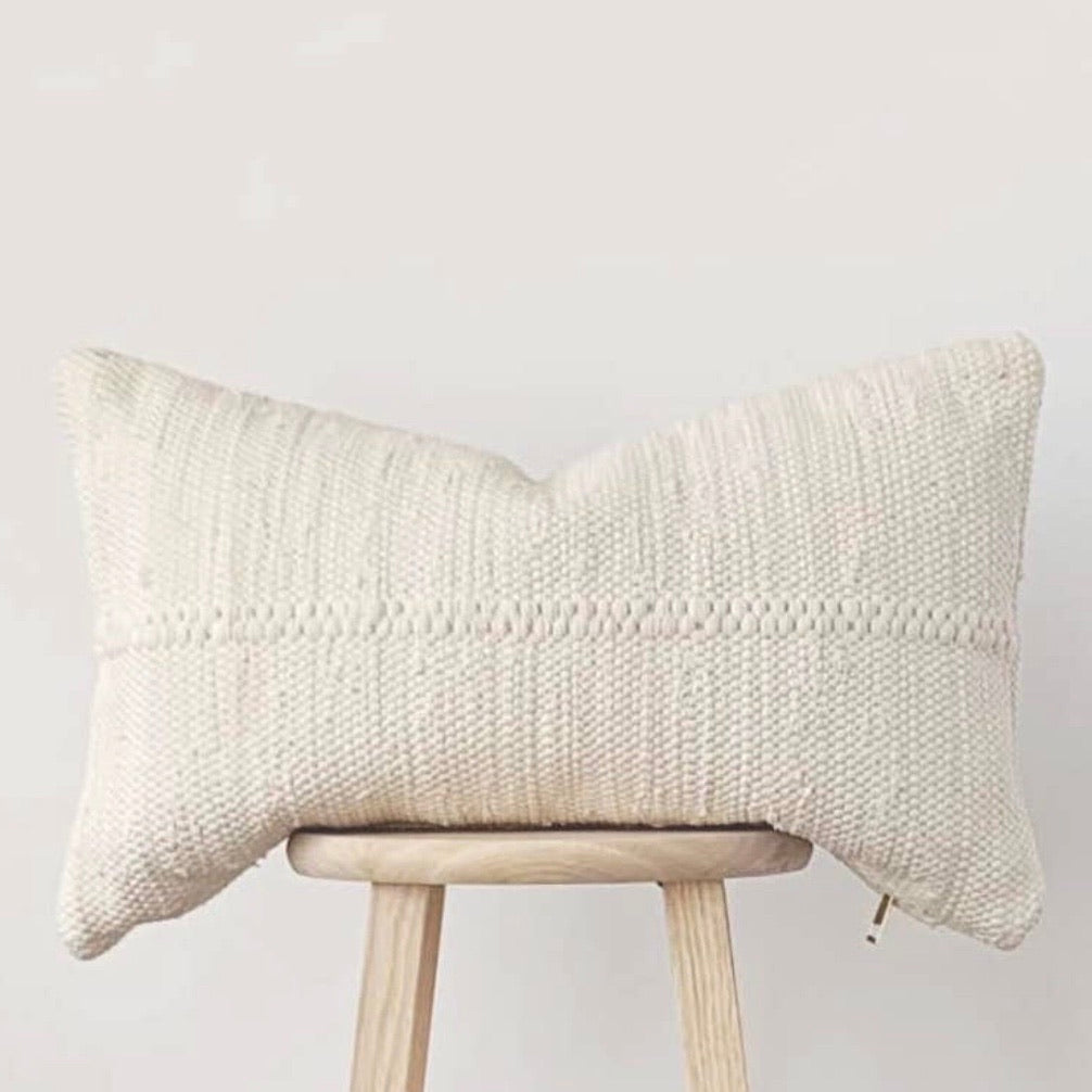 Ivory Chindi Lumbar Pillow