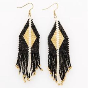 Metallic Onyx Earring
