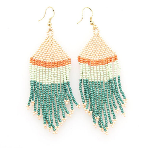Green + TerraCotta Earring