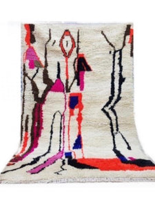 Abstract Form Fuchsia Moroccan Rug