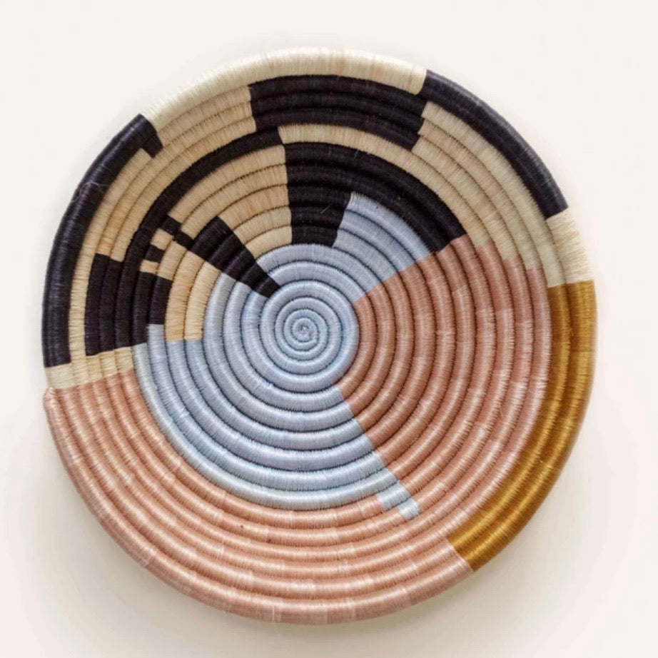 Periwinkle Abstract Plateau Bowl