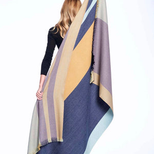 Alpaca Throw Indigo Gold