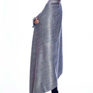 Alpaca Throw Pewter Sky