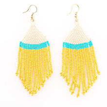 Load image into Gallery viewer, Yellow + Aqua Earring