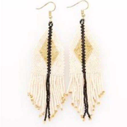 Metallic Ivory Earring