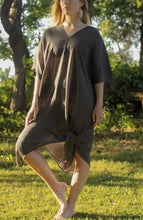 Load image into Gallery viewer, Tulum Kaftan Tunic Charcoal